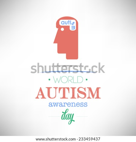 World Autism Awareness Day flat design vector illustration on white backgrounds. - stock vector