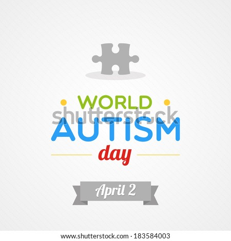 World Autism Day - stock vector