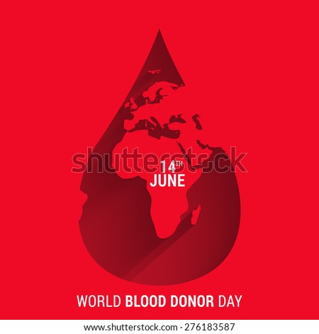 World blood donor day-June 14th. vector illustration - stock vector