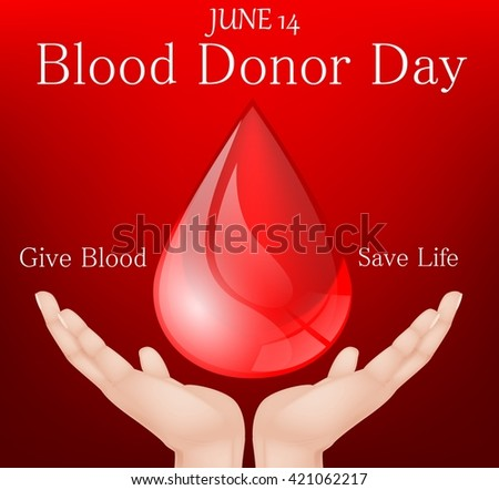World blood donor day.vector - stock vector