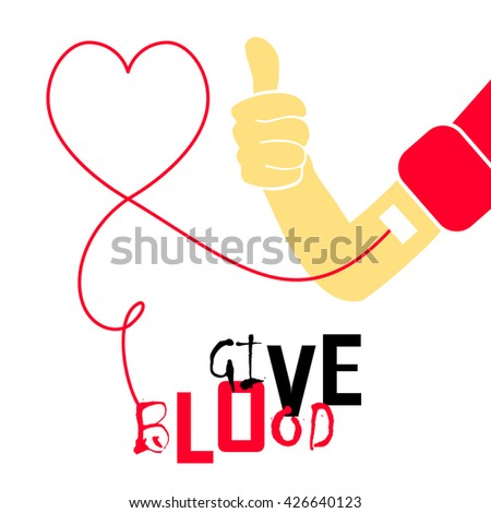 World blood donor day vector illustration. Give blood. Medical Design Element - stock vector