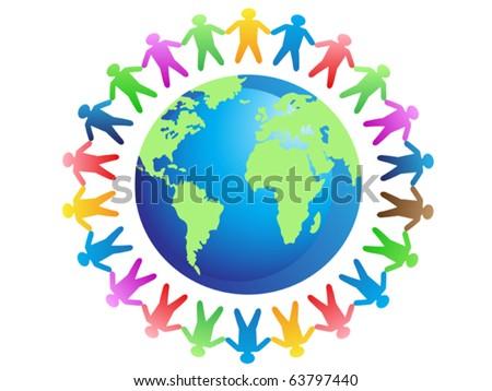 world brotherhood - stock vector