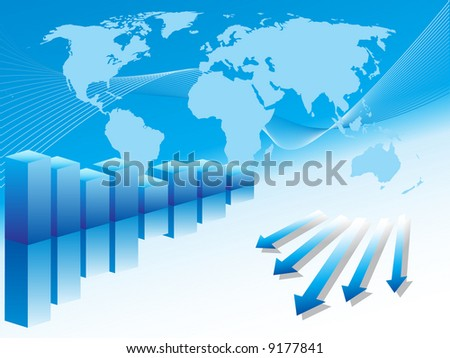 World business image. - stock vector
