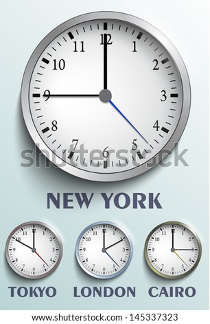 World clock - stock vector
