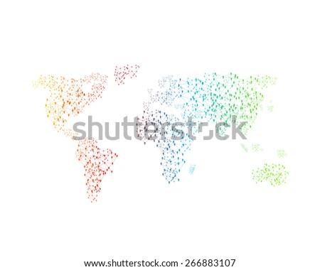 World color map, easy editable - stock vector