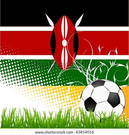world cup kenya - stock vector