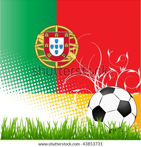 world cup portugal - stock vector