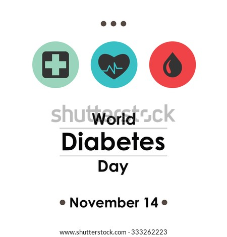 World Diabetes Day, November 14. Vector illustration for card, poster or banner - stock vector