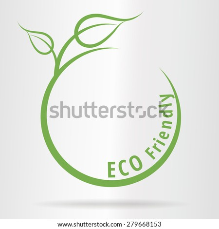 World Environment concept with green leaves - Eco Friendly - stock vector