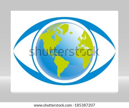 World eye vector.  - stock vector