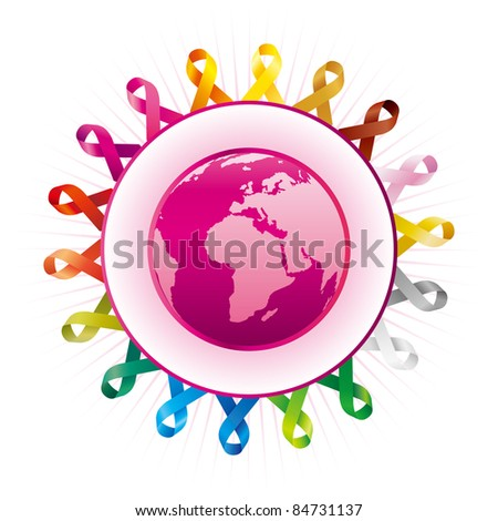 world federation of protection - stock vector