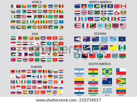 World Flags - stock vector