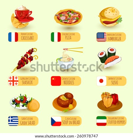 International cuisine clip art pictures to pin on for Around the world cuisine