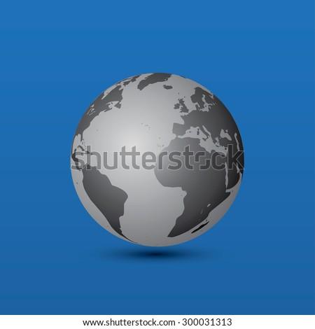 World globe. Editable vector illustration - stock vector