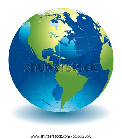 World globe - editable vector illustration - stock vector