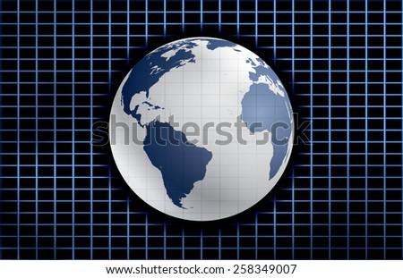 World globe vector background. - stock vector