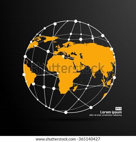 World Globe Vector Icon - stock vector