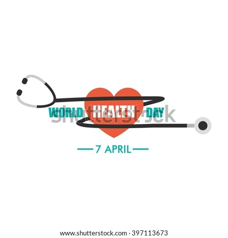 World Health Day Logo Design Template. Vector Illustration - stock vector