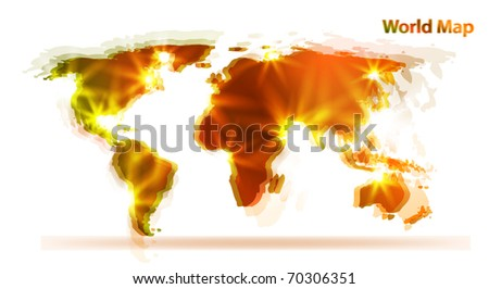 World map. Abstract  background - stock vector