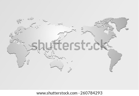 World map and compass of vector, vector illustration - stock vector