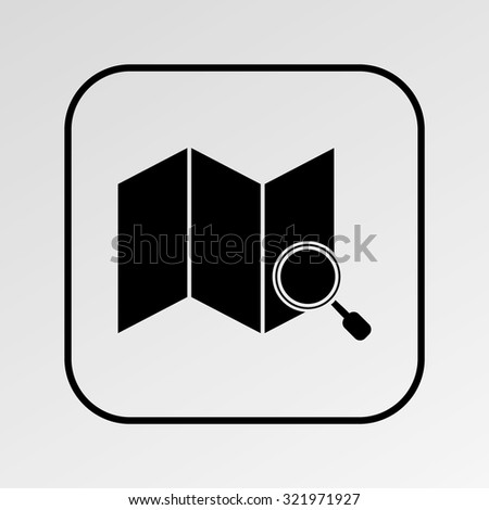 World map and magnifying glass. - stock vector