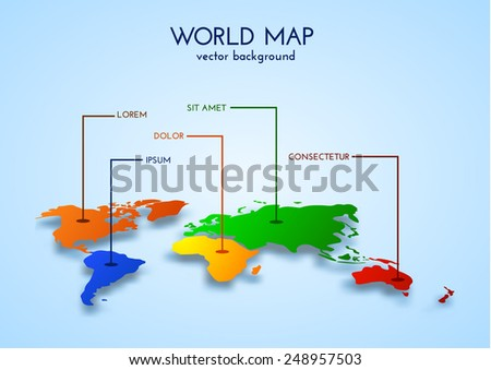 World map background. Vector eps10/ - stock vector