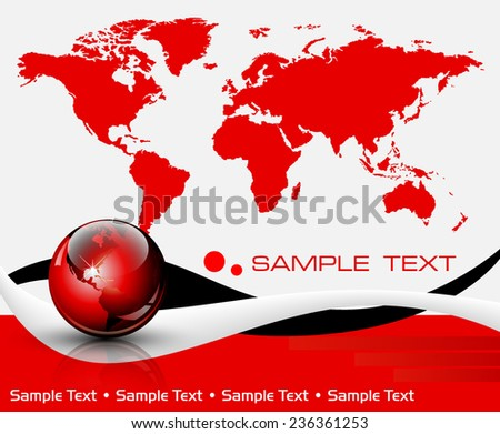 World map background - vector illustration - stock vector