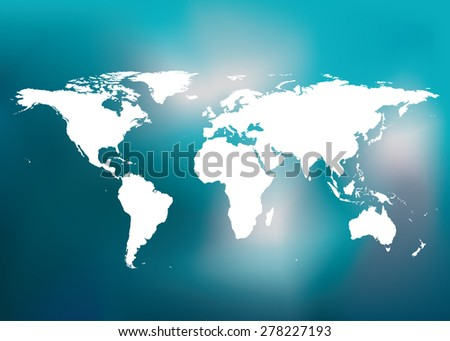 World map Easy to Edit , adjust color and size.  - stock vector