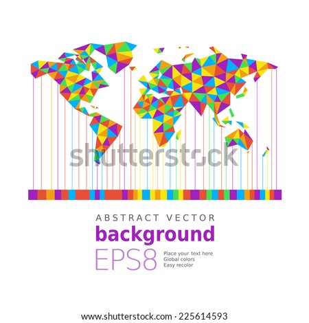 World map. Eps8. RGB. Organized by layers. Global colors. Gradients free - stock vector