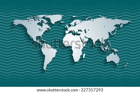 World map, eps10 vector - stock vector
