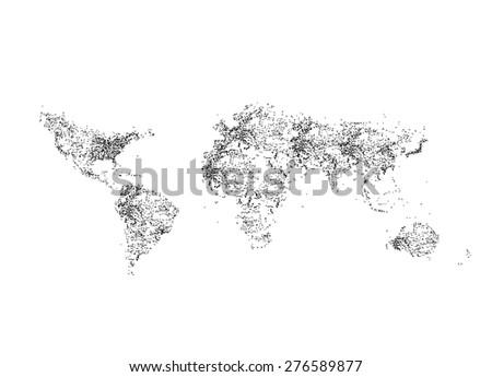 World map EPS 8 vector, easy all editable - stock vector