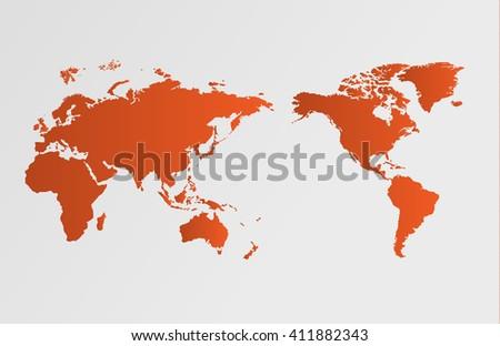 World map global warming, vector illustration - stock vector
