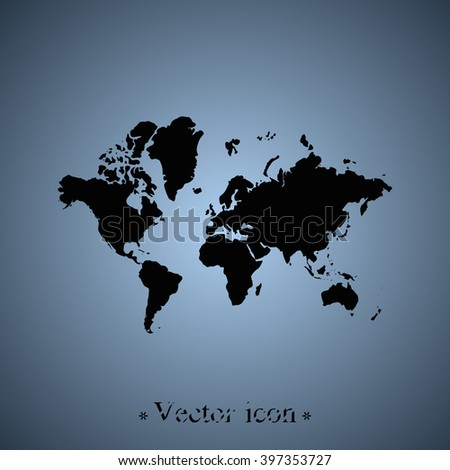 World map icon.  - stock vector