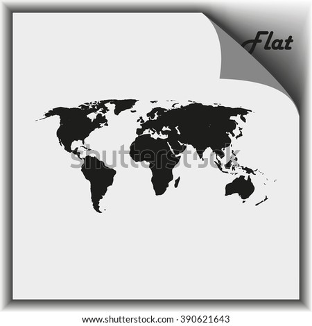 World map illustration. - stock vector