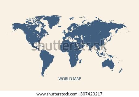 WORLD MAP illustration vector - stock vector