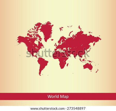World map in an abstract background, a conceptual design of world map with a strip for web-page template or construction - stock vector