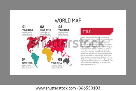 World map template - stock vector