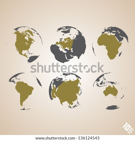 world map vector background - stock vector