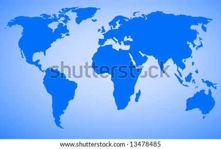 world map vector design with high detail - stock vector