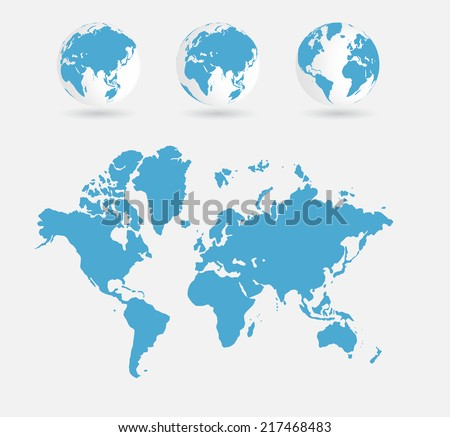 World map, vector illustration - stock vector