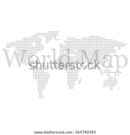 World map with circles with an inscription  on a white background - stock vector