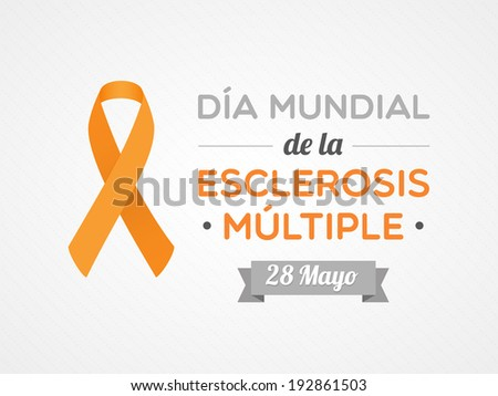 World Multiple Sclerosis Day in Spanish - stock vector