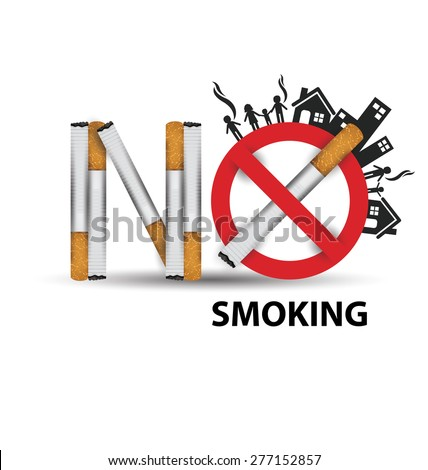 World No Tobacco Day concept. vector illustration. - stock vector