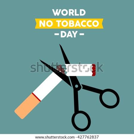 World No Tobacco Day. No Smoking campaign. - stock vector