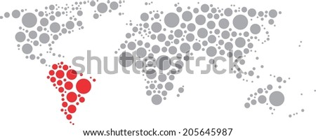 World of circles South America - stock vector