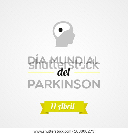 World Parkinson Day in Spanish - stock vector