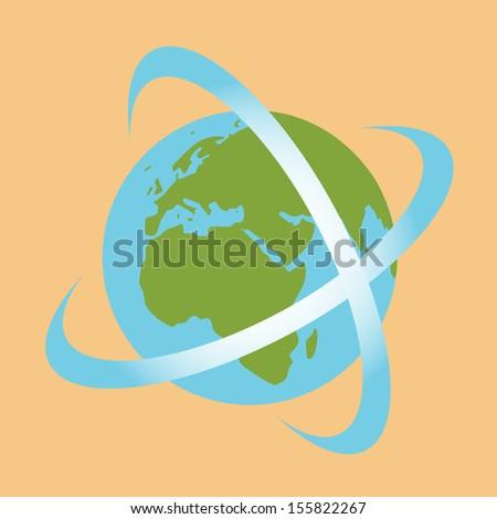 World. Symbolic communication.eps10 - stock vector
