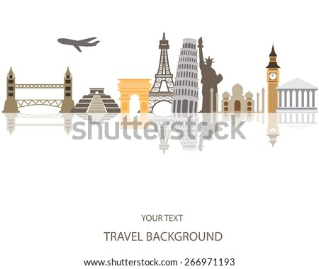 world travel background - stock vector