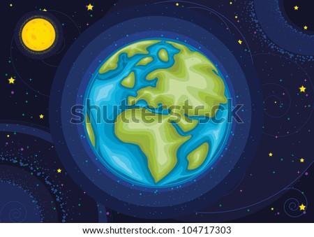 World vector illustration - stock vector