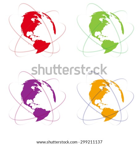 World vector symbol - stock vector